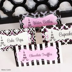 Paris Theme Party Party Kit - Beach Wedding Favors - Destination Wedding Favors