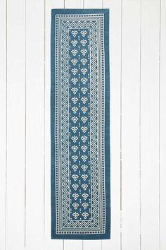 Boho Border 2x8 Blue Rug - Urban Outfitters