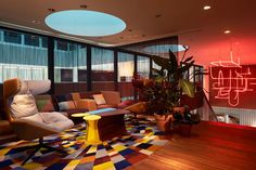 modern hotel in switzerland 25 Hours Hotel in Zurich Charms With Bright and Brilliant Interiors