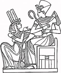 Egyptian Pharaohs coloring page from Egypt category. Select from 28148 printable crafts of cartoons, nature, animals, Bible and many more. School Coloring Pages, Cute Coloring Pages, Free Printable Coloring Pages, Adult Coloring Pages, Coloring Books, Coloring Sheets, Egyptian Pharaohs, Egyptian Symbols, Ancient Egyptian Art