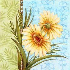 green border - yellow flowers