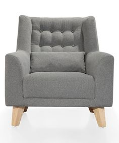 Another great find on #zulily! Gray Calvin Linen Club Chair & Pillow #zulilyfinds