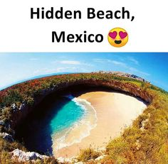 Hidden beach of maxico Amazing Places On Earth, Beautiful Places To Travel, Best Places To Travel, Vacation Places, Cool Places To Visit, Wonderful Places, Places To Go, Interesting Facts About World, Amazing Facts