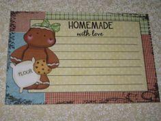 PRIMITIVE SET 12 GINGERBREAD RECIPE CARDS #1 (PLP1-18) Recipe Cards, Gingerbread, Homemade, Primitive, Ebay, Home Made, Ginger Beard, Couture Facile, Primitives