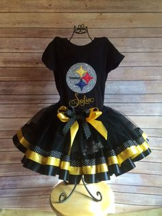 f65f0ff91 Items similar to Pittsburgh Steelers Football Tutu Cheerleader Costume 2 -  Can Add Name for free on Etsy