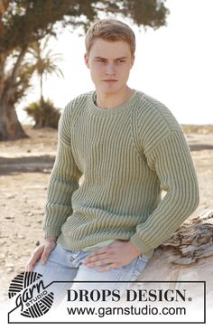 "DROPS Extra 0-898 by DROPS Design Knitted DROPS men's jumper in English rib in ""Karisma"". Size: S - XXXL."