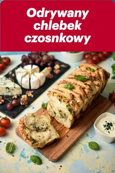 Peeled garlic bread - Tear-off garlic bread is really delicious in itself, as well as a brilliant addition to any salad, - Garlic Cheese, Garlic Bread, Hamburger, Grilling, Food And Drink, Veggies, Salad, Chicken, Baking