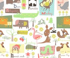 Cute pattern designed by artist Jilly P.