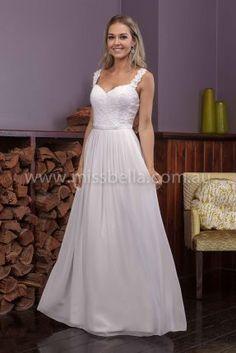 Darcy Deb Dress with a low cut back #debdress #deb #debutante #Lace #straps #straight #chiffon