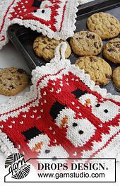 """Ravelry: 0-792 Pot holders with pattern for Christmas in """"Paris"""" pattern by DROPS design"""