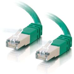 C2G 5ft Cat6 Molded Shielded (STP) Network Patch Cable - Green - RJ-45 Male - RJ-45 Male - 5ft - Green
