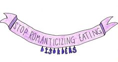 The way people romanticize eating disorders is so insulting, to the people actually suffering with them. Eating disorders are not quirky. You do not make the choice to have an eating disorder. They are illnesses that affect the mind and how you function on a daily basis. If you actively have to try to 'be anorexic', or need to follow crash diets to 'be anorexic', you're invalidating an illness that kills millions of people into a silly fad diet. And making a fool of yourself also. Good job.