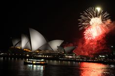 Gala dinner entertainment - fireworks over Sydney Opera House