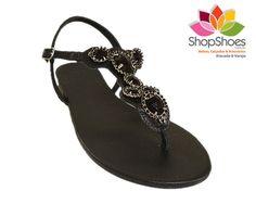 Rasteira pedraria  www.shopshoes.com.br
