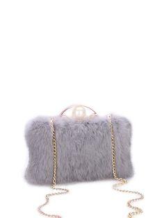#AdoreWe #StyleWe DLMY Fur Evening Clasp Lock Crossbody Bag - AdoreWe.com