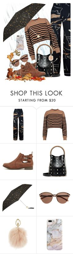 """""""the rains are coming!"""" by runners ❤ liked on Polyvore featuring Valentino, T By Alexander Wang, Accessorize, Witchery, Furla, Recover and Sophie Hulme"""