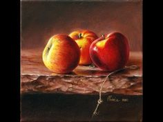Realist oil painting video time lapse how to paint realistic apple apples HD - YouTube