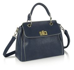 A navy bag is a staple piece to help build up a wardrobe, this bag is versatile enough to go with anything.
