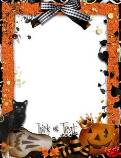 halloween frames and borders | Trick-or-Treat-Halloween_Picture_Frame