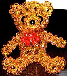 Beaded Teddy Bear Pattern by Allegra