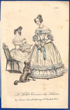 Puppy and dog Early Victorian Romantic era by SylvestraRegency