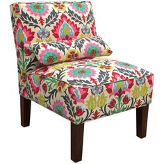 Skyline Furniture Santa Maria Desert Flower Armless Slipper Chair (Santa Maria Desert Flower), Beige (Upholstered)