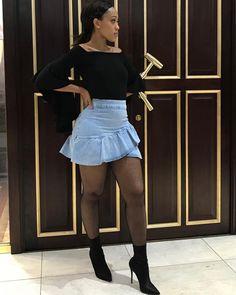 Instagram post by Buhle Samuels • Jan 26, 2018 at 7:17pm UTC Waist Skirt, High Waisted Skirt, Sexy Curves, Denim Skirt, Mini Skirts, Instagram Posts, Fashion, January, Photos