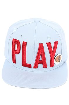 Play Cloths  The Play Snapback Hat in Light Sky  $36.00