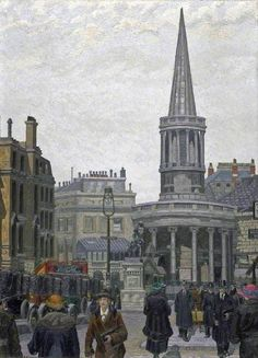 The Church Of All Souls, Langham Place, London Artwork By Charles Ginner Oil Painting & Art Prints On Canvas For Sale London Painting, London History, British History, London Art, East London, London Photos, London Landmarks, All Souls, Literatura