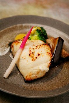 Japanese Food Gindara Saikyo Yaki - Grilled filet of black cod marinated in Saikyo miso paste|銀だら西京焼き
