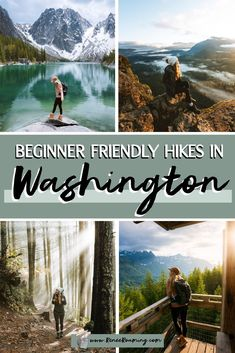 One of the questions I get asked most frequently is about my recommendations for Washington hikes. In particular, which trails I suggest for beginners and people just getting into hiking. So I have put together this blog post featuring the 11 BEST beginner friendly hikes here in Washington state! In this article you will also find tips on how to plan hiking adventures, what to wear and pack on Washington hikes, and some handy trail etiquette tips. #Washington #PNW #WashingtonHikes #Hiking Travel Advice, Travel Guides, Travel Tips, Us Road Trip, Day Hike, Travel Usa, Travel Pictures, Adventure Travel, Washington State