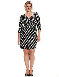 a2eabca70aa Simply Chic slimming faux wrap dress Faux Wrap Dress