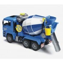 Buy Bruder MAN Cement Mixer at Mighty Ape Australia. MAN Cement Mixer The tipping driver's cab of the MAN cement mixer lorry provides a view of the engine block. The mirrors of the driver's cab fold out. Jouet Bruder, Cement Mixer Truck, Lego, 4 Year Old Boy, Bmw Autos, Play Vehicles, Concrete Mixers, Rubber Tires, Toy Trucks
