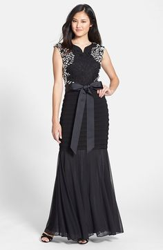 Betsy & Adam Betsey & Adam Lace & Chiffon Gown available at #Nordstrom