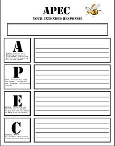 APEC revisited @Teachingisagift: Download this FREEBIE to assist your students in writing extended responses in both MATH and LANGUAGE!