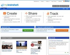 Create, share and track with Brainshark.