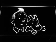 The Adventures of Tintin Tintin and Snowy LED Neon Sign