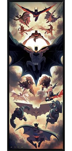 "SIGNED  BY DC COMICS ARTIST TIM SALE NEW 2018  11/""x17/"" BATMAN  ART PRINT"