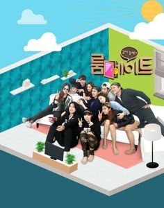 SBS Roommate. I can spot Chanyeol in there (with usual pose). And Park Bom.