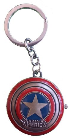 Captain America Pocket Watch Key Chain Key Chain, Captain America, Pocket Watch, Marvel, Watches, Personalized Items, Capitan America, Pocket Watches, Clocks
