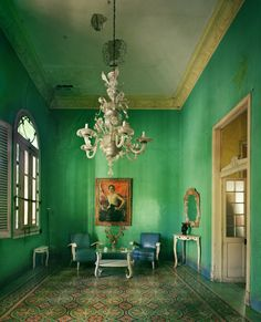 green in Cuba by Michael East  --- just like a painting.