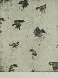 Ben Reid, Spread your Tiny Wings, drypoint, intaglio and woodblock on 540 x 355 mm paper, from an edition of 12, 2011.