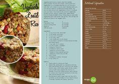 Vegetable Lentil Rice  -- -- >  http://vegetarianbody.com/wp-content/uploads/recipe-volume-1.pdf