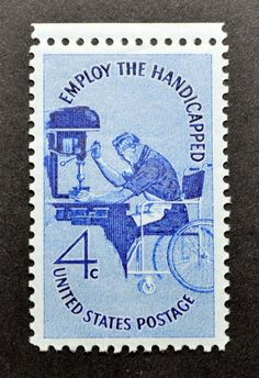 1960 Employ The Handicapped Issue 4 Cents Stamp UNC Unhinged 1095J | eBay