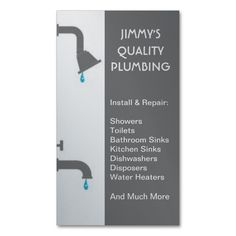 Free designs for plumber business cards have a look httpwww plumber plumbing installation service repair business card reheart Image collections