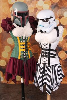They may be baddies, but these corsets are sure to pull some Jedi mind tricks | Boba Fett Stormtrooper corsets on Etsy