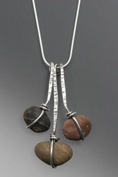 Necklace | Rebecca Bashara & Scott MacDonald. 'Wrapped Waterfall'