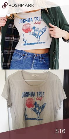 T-shirt Joshua tree T-shirt.  From urban outfitters brand is truly madly deeply.  Bought From another seller but it doesn't fit me right :( no trades or modeling please! Urban Outfitters Tops Tees - Short Sleeve