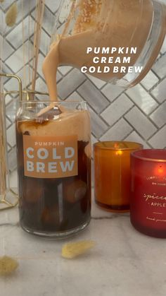 Coffee Drink Recipes, Starbucks Recipes, Coffee Drinks, Coffee Is Life, Coffee Love, Iced Latte, Iced Coffee, Pumpkin Pie Spice, Pumpkin Puree