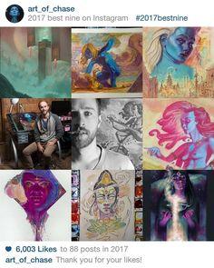 Made alot of art this year! You guys like these the nine the most!! . . . #art #draw #sketch #painting #goddess #love #insta #artofchasehenson #instaart #love #provo #utah #slc #utahart #utahartist